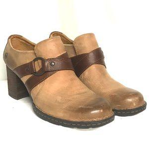 Born tan leather booties